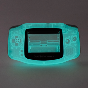 Game Boy Advance Replacement Shell - Inky (Blue Glow in the Dark!)