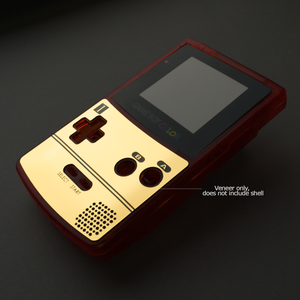 Famicom-Style Gold Veneer for Game Boy Color