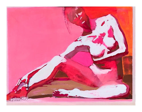 Color Study Figure - Bright Pink/Orange