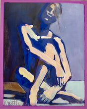 Load image into Gallery viewer, Color Study Figure - Cobalt/Periwinkle