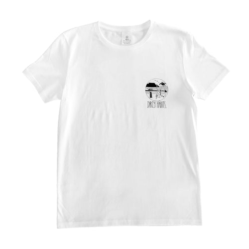 Dirty Habits - White Candy Beach Tee -
