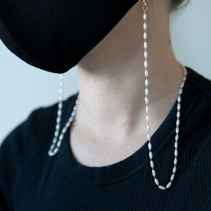 Rice Pearl Mask Chain - LINKETS
