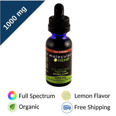 1000 mg Max Formula Full Spectrum CBD and MCT Oil Tincture, Natural Flavor-33 mg CBD rich extract per serving