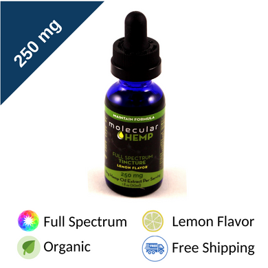 250 mg Maintain Full Spectrum CBD Formula, Lemon