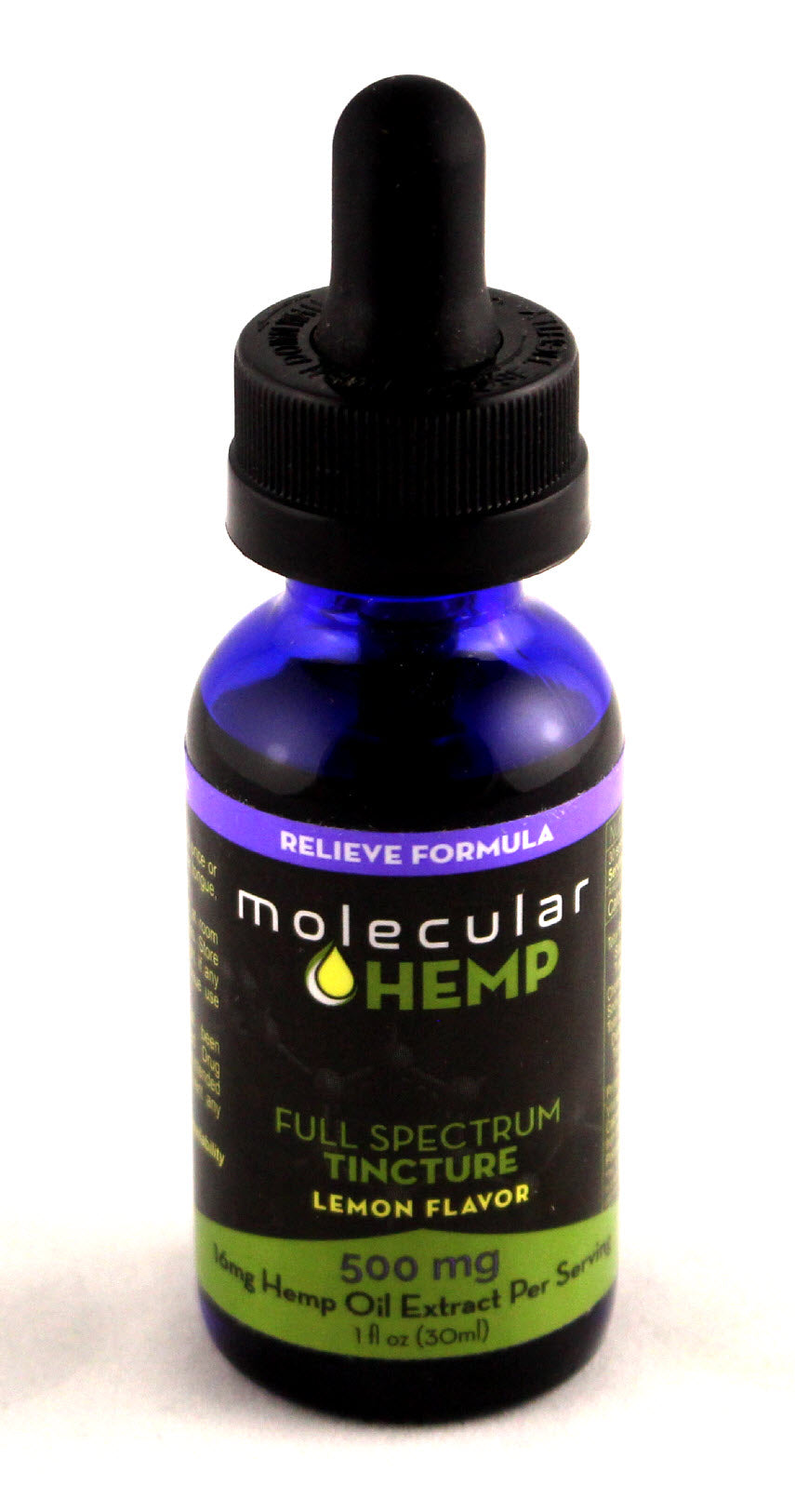 500 mg Relieve Formula Full Spectrum CBD and MCT Oil Tincture, Lemon  Flavor-16 mg CBD rich extract per serving