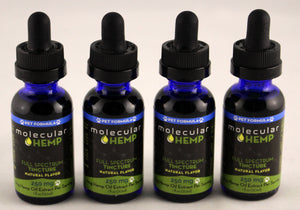 250 mg PET Formula Full Spectrum CBD and MCT Oil Tincture, Natural Flavor-8 mg CBD rich extract per serving