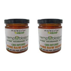 Hemp Blossom Honey with CBD, 28mg per serving