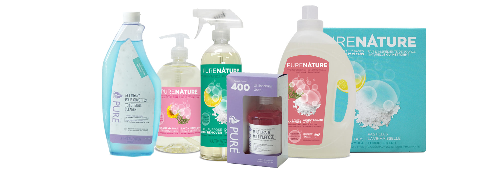 Ecological household cleaning products