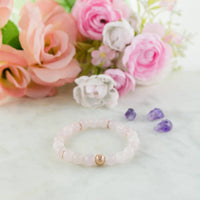Zeus Trio! Rose Quartz, Amazonite and Amethyst bracelet