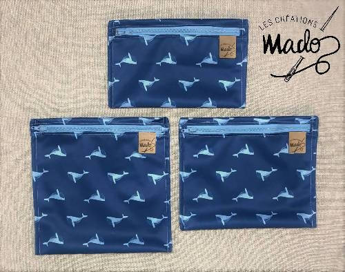 Little whale snack pouch