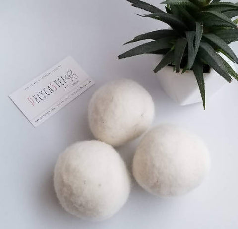 Wool drying balls - set of 3