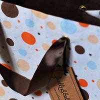 Medium reusable gift bag, Multicolor polka dots