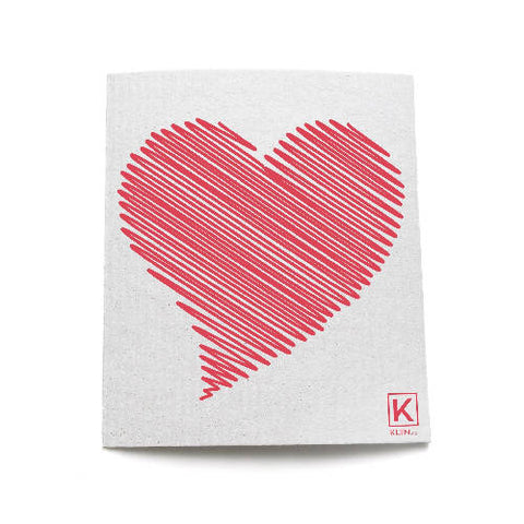 Small reusable and compostable towel - Heart stopper