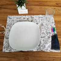 Placemats/coloring table set
