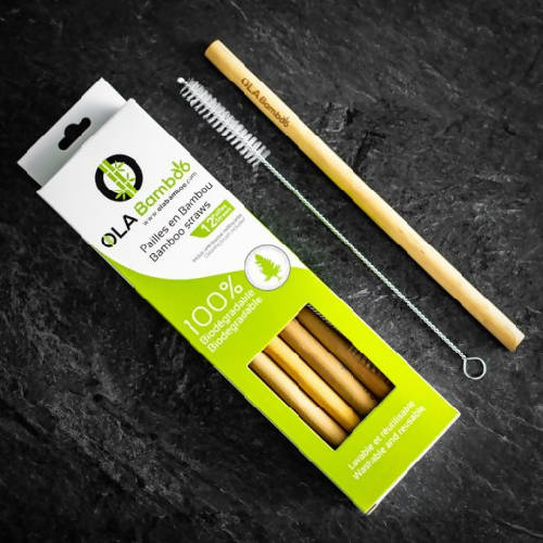 Bamboo straws (box of 12 straws)