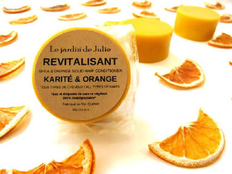 Revitalisant solide Karité & Orange
