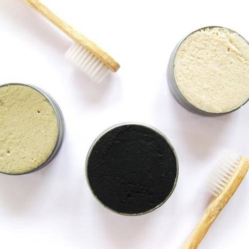 Solid Toothpaste, Charcoal & Mint - Vegan + Eco-responsible + Zero Waste