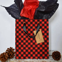 Medium reusable gift bag, Red and Black