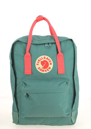 Sac ordinateur FJALLRAVEN Kanken 13 pouces Frost Green/Peach Pink Face