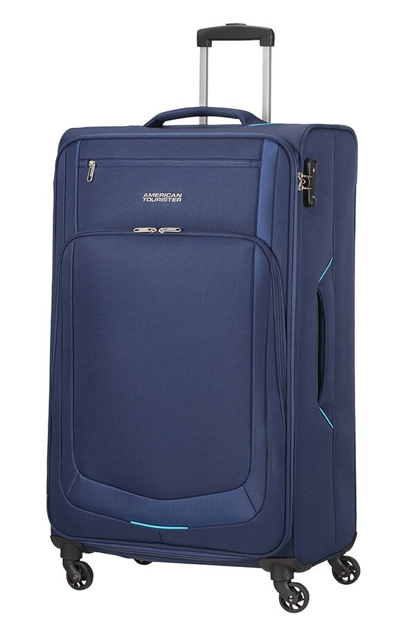 Valise 4 roues 78cm American Tourister SUMMER SESSION bleu fonce