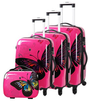 Lot de 3 valises Madisson Borabora rose 16820A avec vanity case