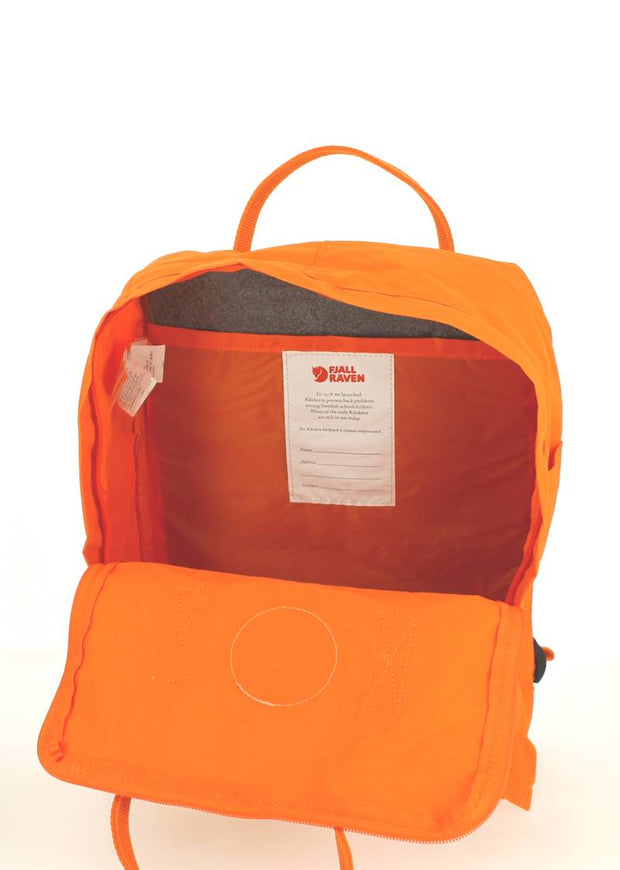Sac à dos FJALLRAVEN Kanken Burnt Orange Ouvert