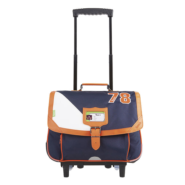 Cartable Tann's Trolley 38 cm Voile bleu TROLLEY