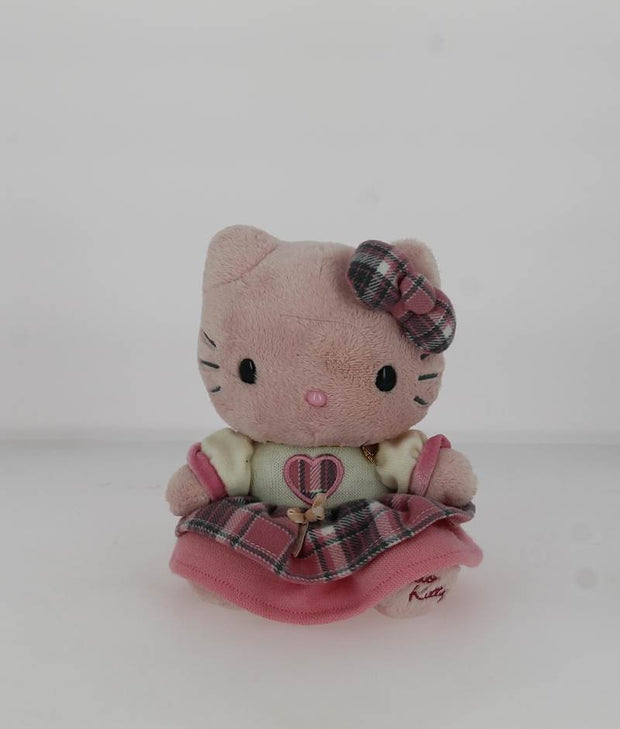 Peluche Hello Kitty 07676KA ROSE ET GRIS FACE