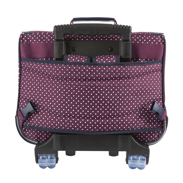 Cartable à roulettes Tann's 38 cm bordeaux