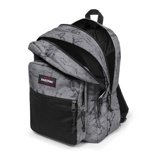 Sac à dos EASTPAK Pinnacle West Grey ouvert