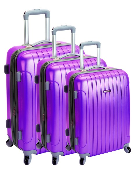 Lot de 3 valises MADISSON 33403 Bucarest Violet