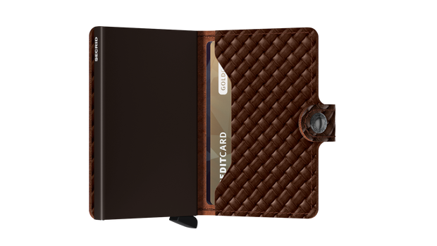 Miniwallet Secrid Basket Brown