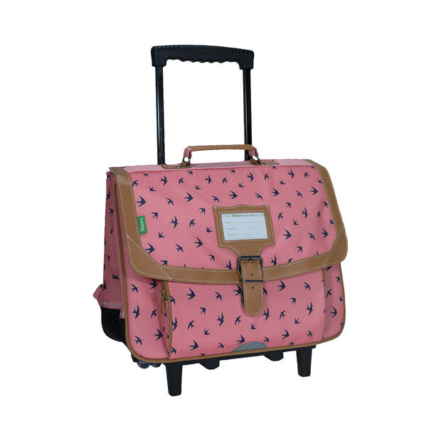 Cartable Trolley Tann's 38 cm Les Fantaisies Swann Rose