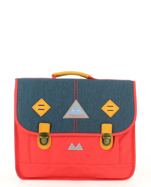 Cartable Poids Plume 38 cm PLI173844-RED/DARK-JEANS face