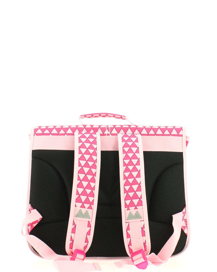 Cartable Poids Plume 38 cm TRI153824-Triangles-ROSE dos