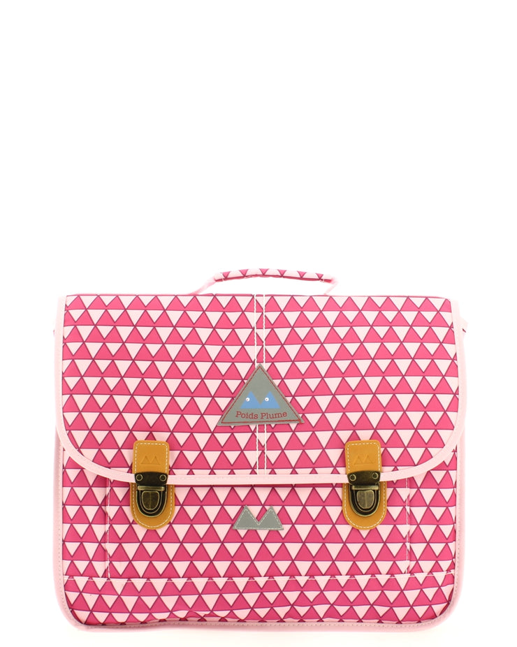 Cartable Poids Plume 38 cm TRI153824-Triangles-ROSE face