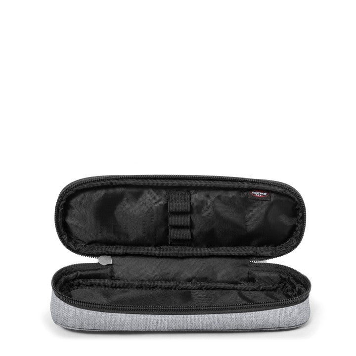 Trousse EASTPAK Oval Sunday Grey ouverte