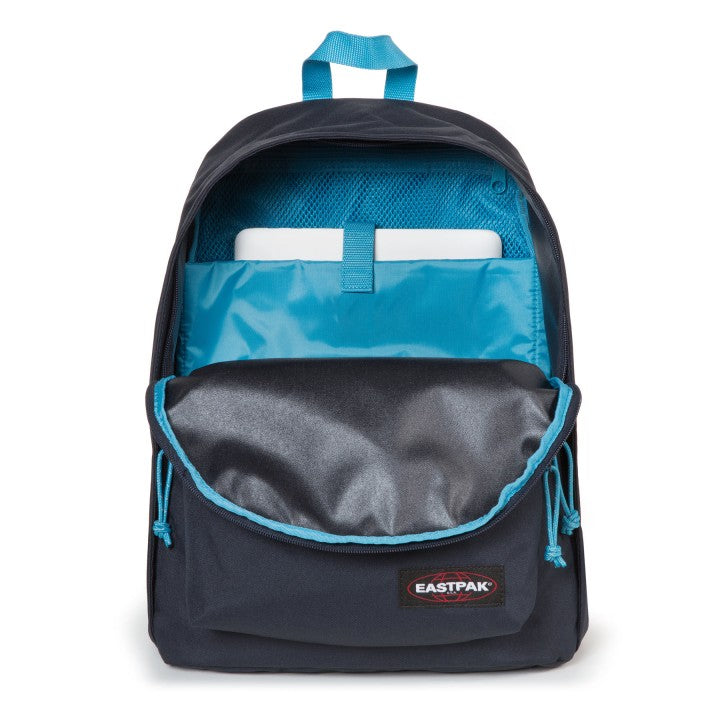 Sac à dos out office Eastpak navy aqua OUVERT