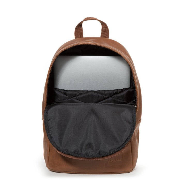 Sac à dos EASTPAK DEE BROWNIE LEATHER ouvert