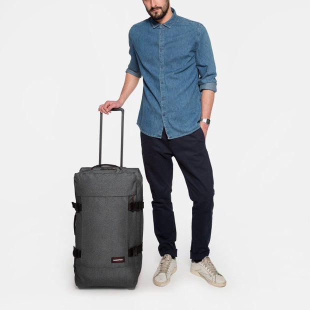 Sac de voyage trolley EASTPAK TRANVERZ M Black denim PORTE