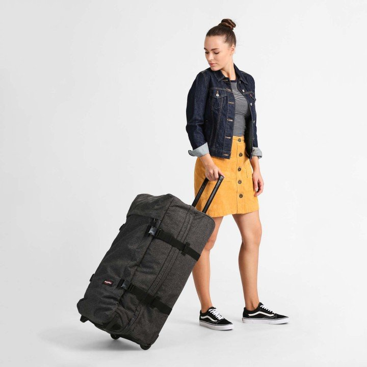 Sac EASTPAK Tranverz L TSA Black Denim porte