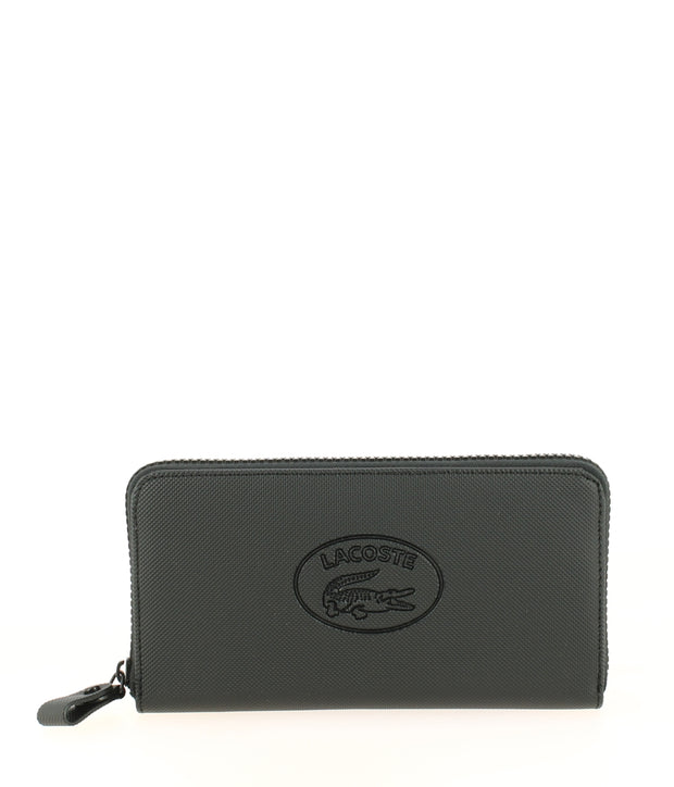 Grand portefeuille LACOSTE zippé Wallet Noir face