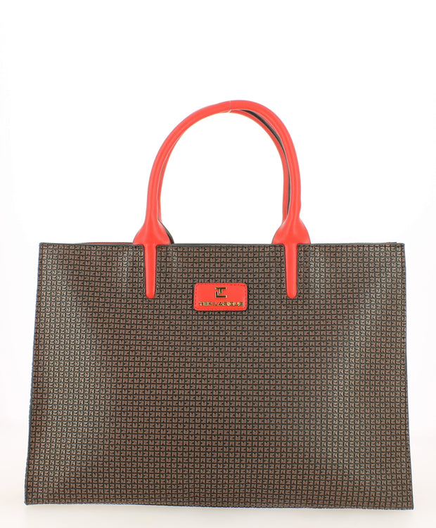 Grand sac TED LAPIDUS Fidélio II Marron rouge face
