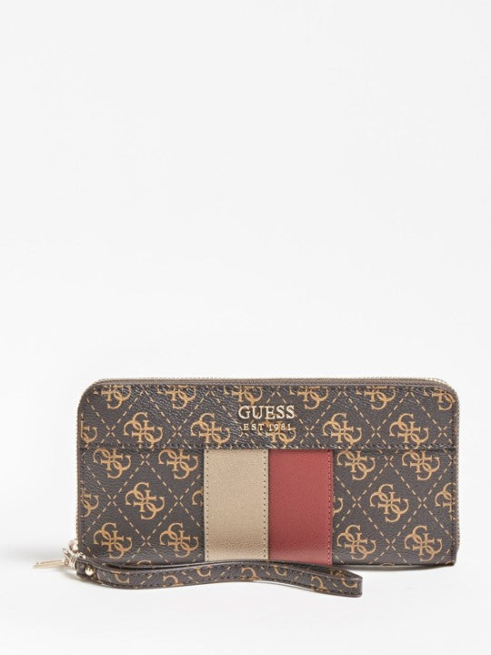 Porte-monnaie Guess Katey SLG brown multi