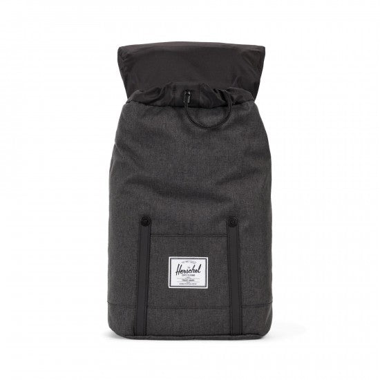 Sac à dos HERSCHEL MID-VOLUME black crosshatch ouvert