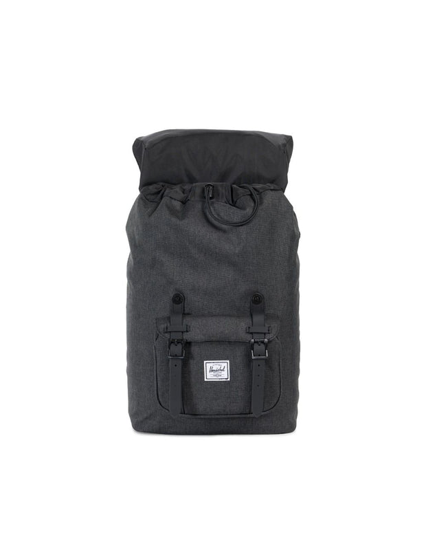 Sac herschel little america black crosshatch OUVERT