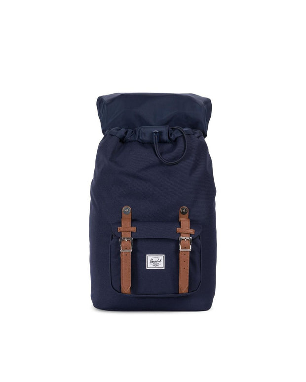 HERSCHEL sac a dos Little America Mid volume peacoat tan ouvert