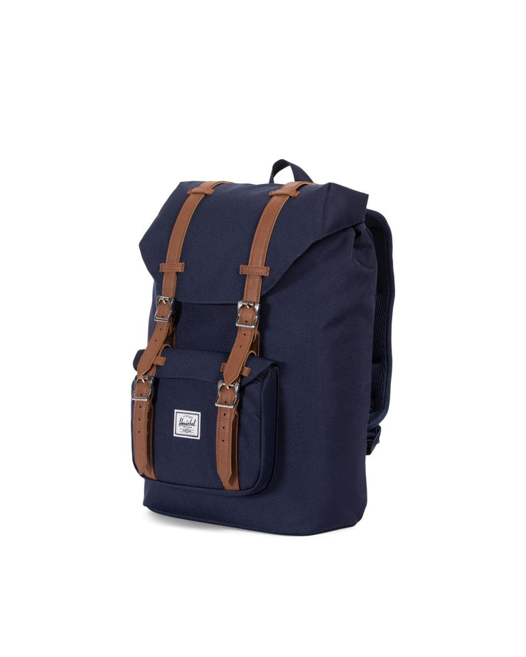 HERSCHEL sac a dos Little America Mid volume peacoat tan cote