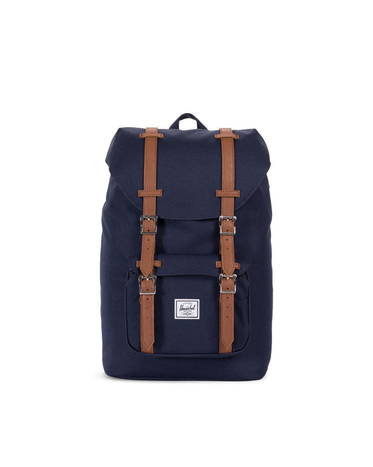 HERSCHEL sac a dos Little America Mid volume peacoat tan face