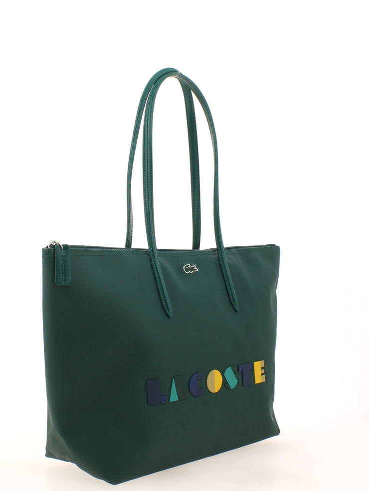 L Shoppping Bag Lacoste color block NF2610CF-B62 coté
